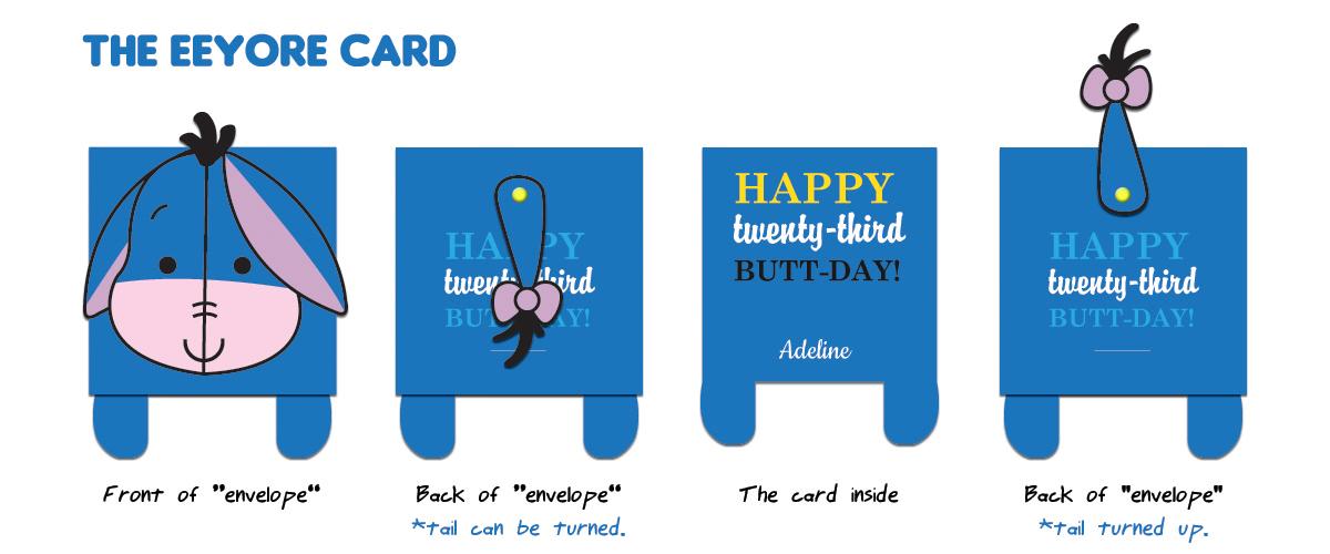 Eeyore Greeting Card Chubbyballoon – Eeyore Birthday Cards