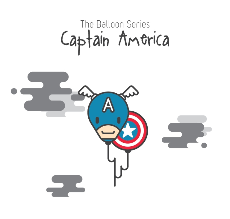 The Balloon Series - Captain America
