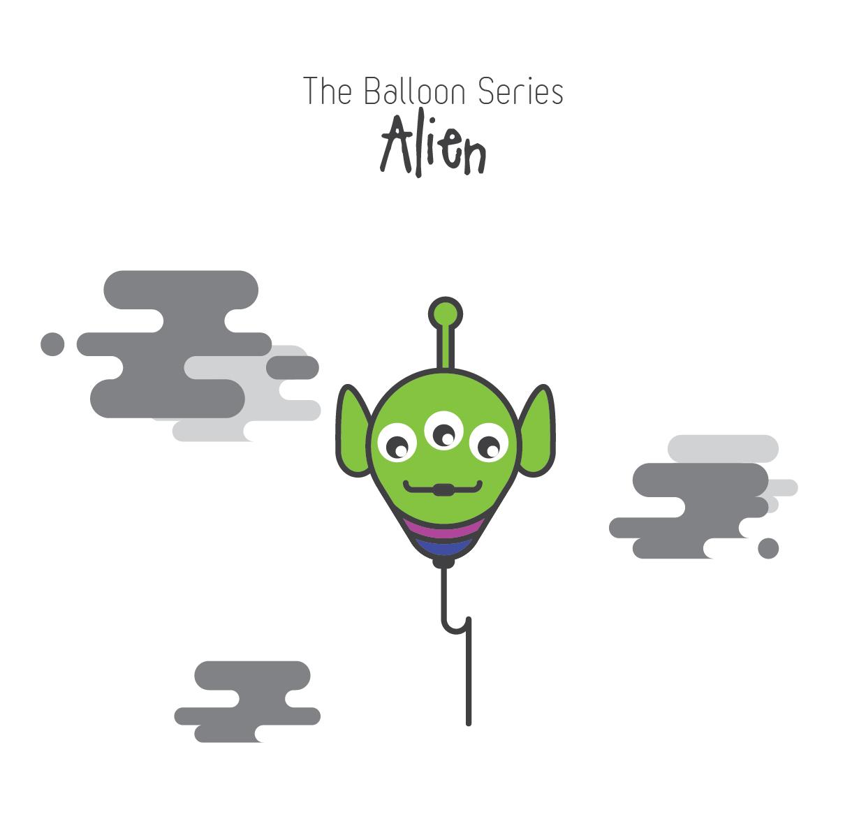 The Balloon Series - Alien