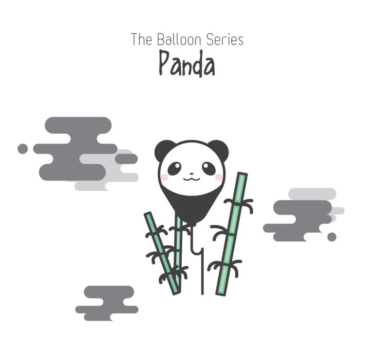 The Balloon Series - Panda