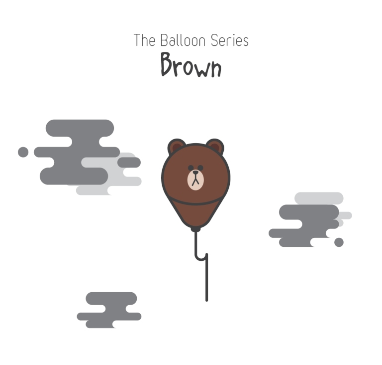 The Balloon Series - Brown (Line)